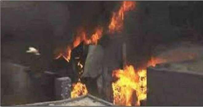 لاہور کی بڑی کلاتھ مارکیٹ میں آگ بھڑک اٹھی