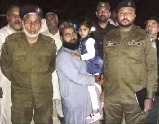 تھانہ سوہاوہ پولیس نے گمشدہ بچی ورثاء کے حوالے کردی