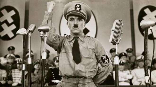 جرمن فلم 'دی گریٹ ڈکٹیٹر' چارلی چیپلن کی پہلی بولتی فلم تھی