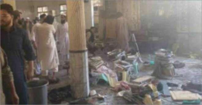 پشاورکے مدرسے میں دھماکہ ، 7 افراد شہید  70 زخمی