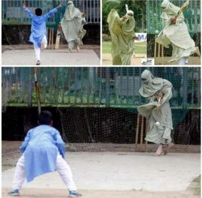 بنگلہ دیش ،ماں اور بیٹے کے کرکٹ کھیلنے کی تصاویر سوشل میڈیا پر وائرل