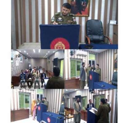 ضلع کی تمام مساجد میں پولیس افسران اور ایس ایچ اوز کا نمازیوں سے خطاب
