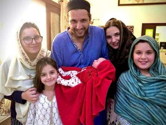 شاہد آفریدی نے اپنی نومولود بیٹی کا نام رکھ دیا