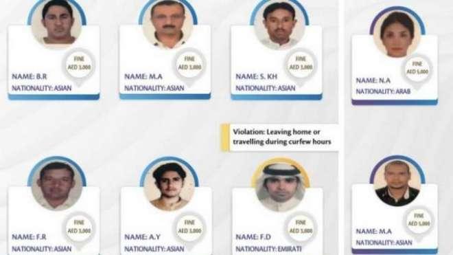 متحدہ عرب امارات میں کورونا ضوابط کی خلاف ورزی کرنے والوں کی تصویروں ..