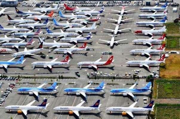 کورونا وائرس سے دنیا بھر فضائی آپریشن معطل 'طیاروں کی پارکنگ درد سر ..