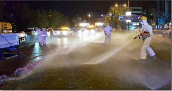 متحدہ عرب امارات میں سٹیریلائزیشن مہم کے دوران گھر سے نکلنے کیلئے آن ..