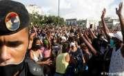 کیوبا میں کمیونزم 'مردہ باد' کے نعرے