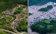 سیلاب سے پہلے اور سیلاب کے بعد، جرمنی تصاویر میں