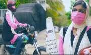 کراچی کی با ہمت نوجوان لڑکی فارماسسٹ ڈاکٹر ثناء چلتی پھرتی فارمیسی ..