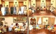 ضلع چمن کے صحافیوں کا ایک وفد گورنر بلوچستان سید ظہور آغا سے گورنر ہاوس ..