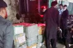 پشاورسے کراچی جانے والے خیبرمیل ایکسپریس کے روہڑی اسٹیشن پہنچنے پر ..