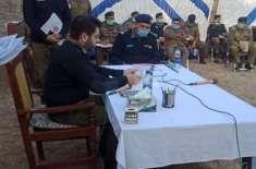 ڈسٹرکٹ پولیس آفیسر جہلم نے علاقہ تھانہ جلالپور میں کھلی لگائی، زیر ..