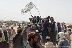 حکومت خاموش مگر بعض اکستانی مذہبی حلقے طالبان کے جھنڈوں کے ساتھ
