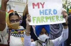 بھارتی پارلیمان کے نزدیک ہی کسانوں کا انوکھا احتجاج