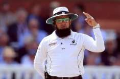Aleem Dar will officiate for the first time in a Test match in Pakistan