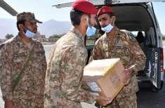 پاک فوج ایف سی اور پاکستان ائیر فورس اور ضلعی انتظامیہ کی جانب سے محلہ ..