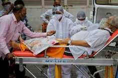 بھارت ،کورونا وائرس کےمزید 15 ہزار981 نئے کیسز، 166ہلاکتیں