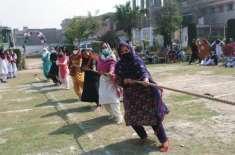 خواتین کی عالمی دن کے سلسلے میں گورنمنٹ سٹی گرلز کالج گلبہار میں کھیلوں ..