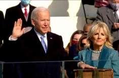 جوبائیڈن نے امریکا کے46ویں صدر کی حیثیت سے اپنے عہدے کا حلف اٹھالیا