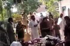 ڈسکہ میں 65 سالہ بزرگ کے جنازے پر مریدوں نے نوٹ نچھاور کر دیے