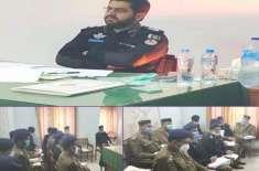 ڈسٹرکٹ پولیس آفیسر جہلم کی زیر صدارت تھانہ صدر میں کرائم میٹنگ