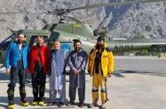 پاک فوج نے راکا پوشی پر پھنسے ہوئے تینوں کوہ پیماؤں ریسکیو کرلیے،پابندی ..
