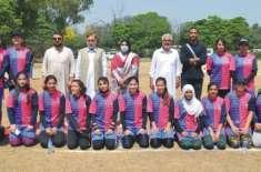 آل پاکستان انٹر یونیورسٹی ہینڈ بال ویمن چیمپئن شپ کا آغاز