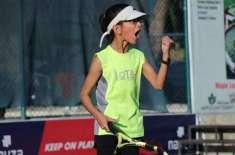 پاکستان کی10 سالہ ہانیہ منہاس نے تاجکستان میں ایشین ٹینس فیڈریشن ٹینس ..
