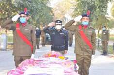شہید کانسٹیبل نوید اصغر کی نماز جنازہ پولیس لائن ہیڈ کوارٹرز میں ادا ..