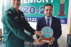 ریسکیو1122 اوکاڑہ سنٹرل اسٹیشن پر سالانہ تقریب برائے تقسیم انعامات کا ..