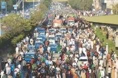 لاہور کے داخلی و خارجی راستوں سمیت ٹریفک کیلئے بند مقامات کو ٹریفک ..
