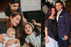 فواد خان کی اہلیہ صدف فواد نے اپنے تینوں بچوں کے ہمراہ پہلی مرتبہ تصویر ..