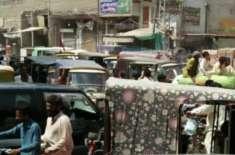 شہر سکھر میں تجارتی مراکز سمیت اہم شاہراہوں پر ٹریفک جام معمول بن گیا، ..