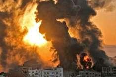 اسرائیل نے تباہی مچا دی،سیز فائر کے معاہدے کے بعدغزہ پر بمباری شروع