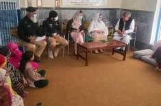 صوبائی  کمیٹی برائے  خواتین، اطفال و ظعیف العمر افراد کی ممبر عائشہ ..