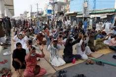 کالعدم تحریک لبیک نے مسجد رحمت العالمین کے باہر دھرنا ختم کرنے کا اعلان ..