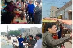 کندھ کوٹ.کے ڈپٹی کمشنر منور علی مٹھیانی نے  بازار ،اسٹیڈیم شہر کی گلیوں ..
