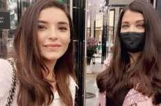 ایشوریا رائے سے اداکارہ سعدیہ خان کی دبئی میں اچانک ملاقات
