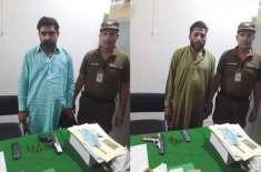 سیشن کورٹ، بابا گراؤنڈ سے دو مسلحہ اشخاص گرفتار، اسلحہ برآمد