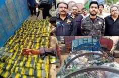 جیکب آباد کے قریب کسٹم نے کروڑوں روپے کی منشیات اسمگلنگ کرنے کی کوشش ..