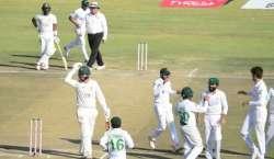 پاکستان نے دوسرے ٹیسٹ میچ میں میزبان زمبابوے کو اننگز اور 147 رنز سے ..