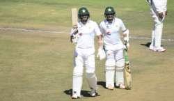 ہرارے ٹیسٹ، اظہرعلی اور عابد علی کی شاندار بلے بازی، پاکستان کے 4 وکٹوں ..