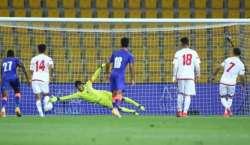 متحدہ عرب امارات کی فٹبال ٹیم نے بھارت کو دھول چٹا دی