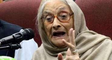 پاکستان کی پہلی منتخب پہلی خاتون رکن قومی اسمبلی نسیم ولی خان انتقال ..