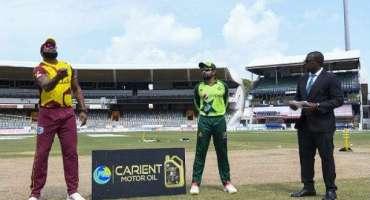 تیسرا ٹی ٹونٹی، ویسٹ انڈیز کا پاکستان کیخلاف ٹاس جیت کر بیٹنگ کا فیصلہ