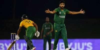 سنسنی خیز مقابلے کے بعد دوسرے وارم اپ میچ میں پاکستان کو جنوبی افریقہ ..