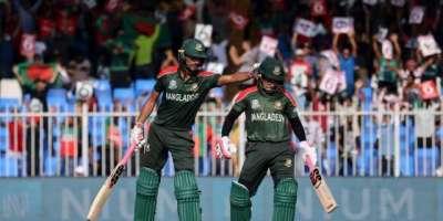 ٹی ٹونٹی ورلڈ کپ ، بنگلہ دیش کا سری لنکا کو کامیابی کے لیے 172 رنز کا ہدف