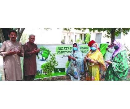 گورنمنٹ ایسوسی ایٹ کالج برائے خواتین جہانیاں میں مون سون شجرکاری مہم ..