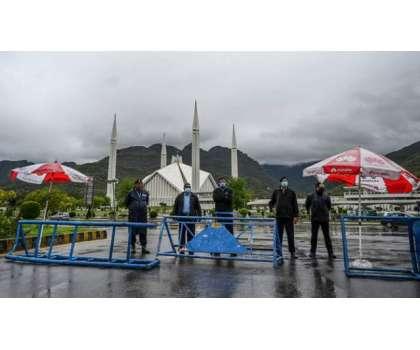 فیصل مسجد اسلام آباد سیل کر دی گئی