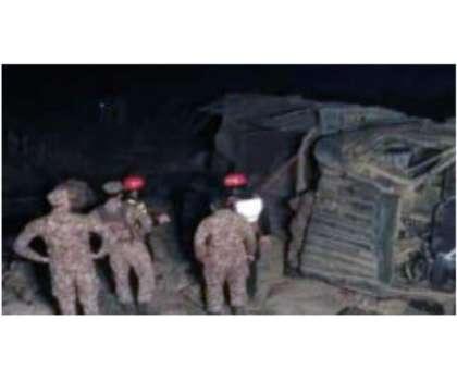 افسوسناک حادثہ، آزاد کشمیر میں پاک فوج کی گاڑی کھائی میں گرنے سے 4 ..